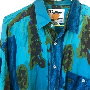 Vintage Protest Silk Shirt M